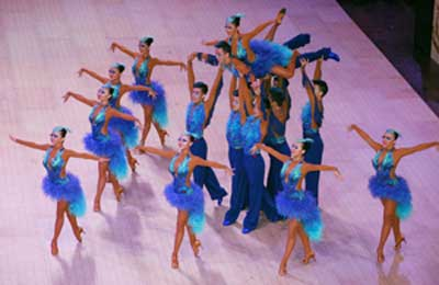 Chinese formation team competing at the Blackpool Open Dance Festival in 2014.