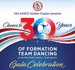 logo for 30 year USA Dance Seattle formation team gala
