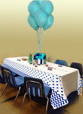 Our VIP tables are beautifully decorated and come with free treats and water.